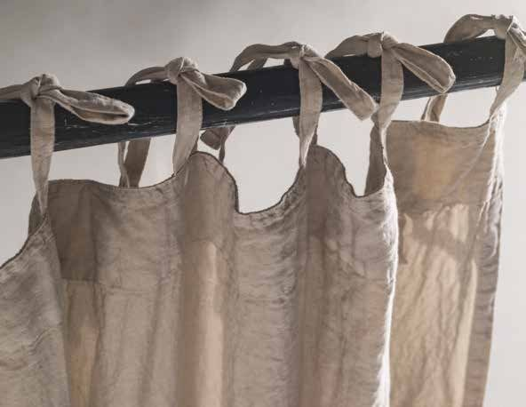 Hand embroidered linen curtain PRIMULA | Curtain by LA FABBRICA ...