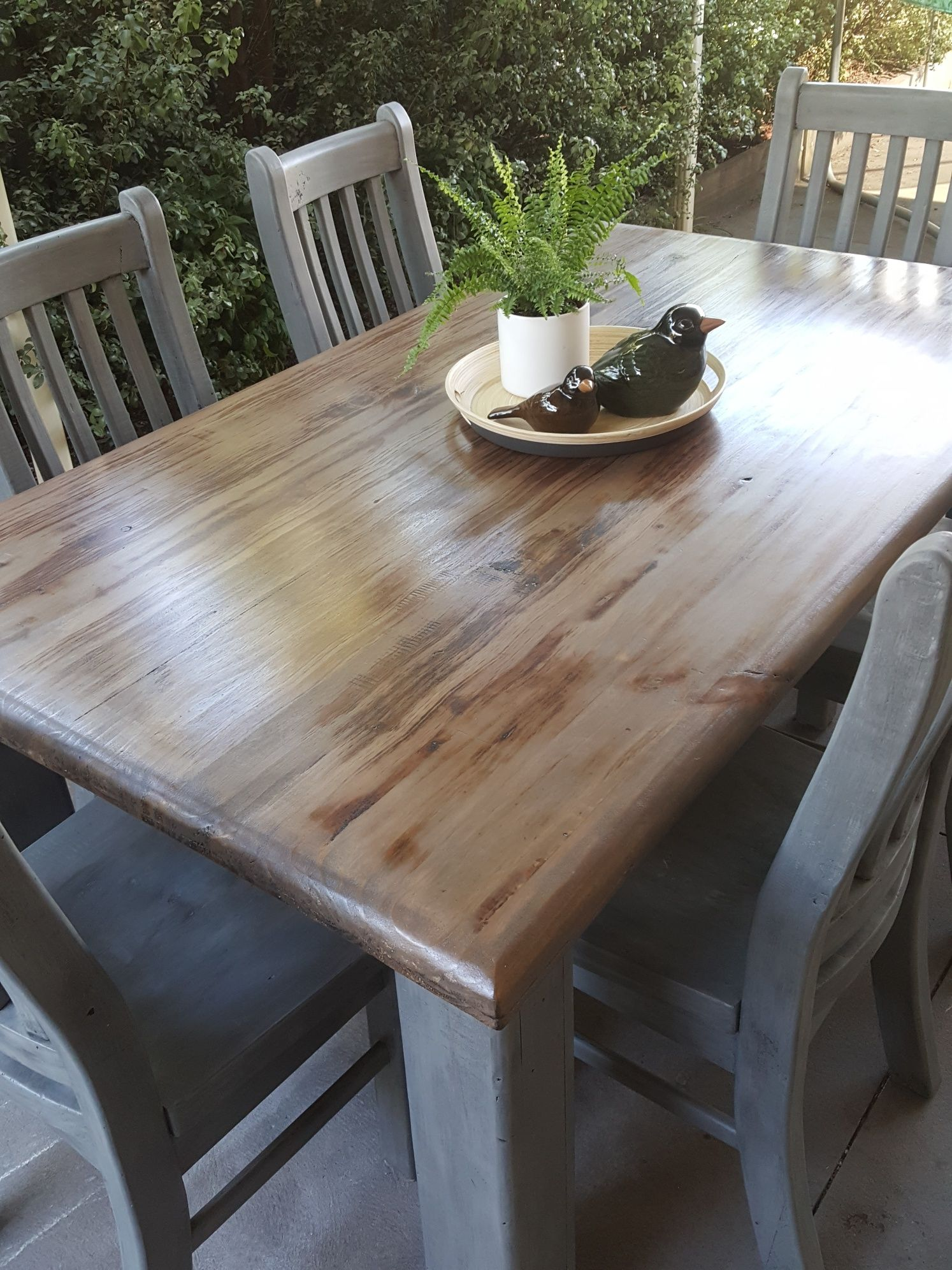Upcycled Dining Table Chairs Dining Table Painted Dining Table Chalk Paint Dining Table