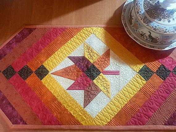 Quilt Table Runner Patchwork Table Topper Handmade Tablecloth