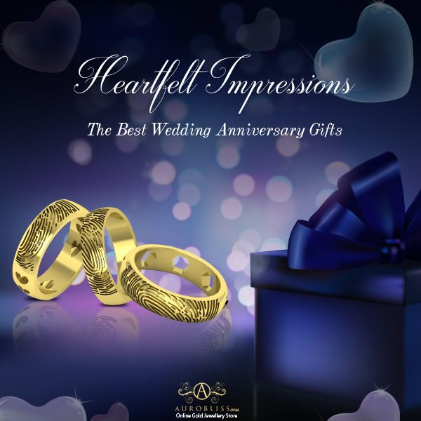 Precious Fingerprint Ring Anniversary Gifts For Parents