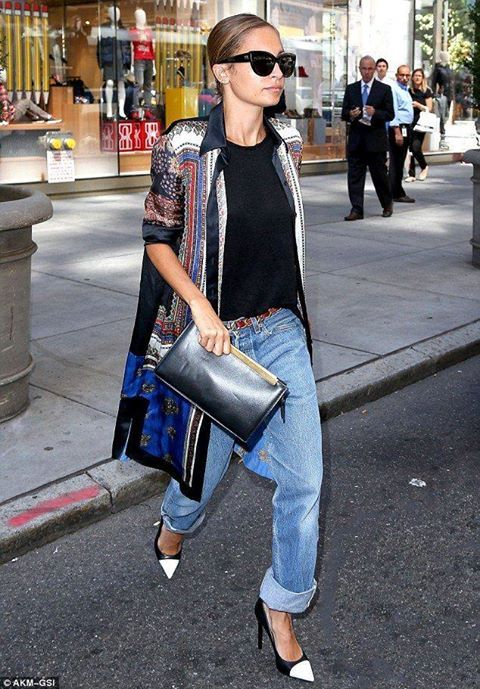 pick up search for latest free delivery Nicole Richie looking cool in a silk Givenchy jacket, baggy ...