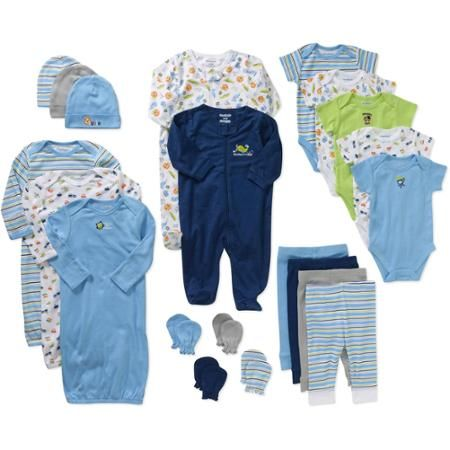 Walmart Baby Boy Clothes Entrancing Garanimals Newborn Baby Boy Perfect Shower Gift 21 Piece Set Design Ideas