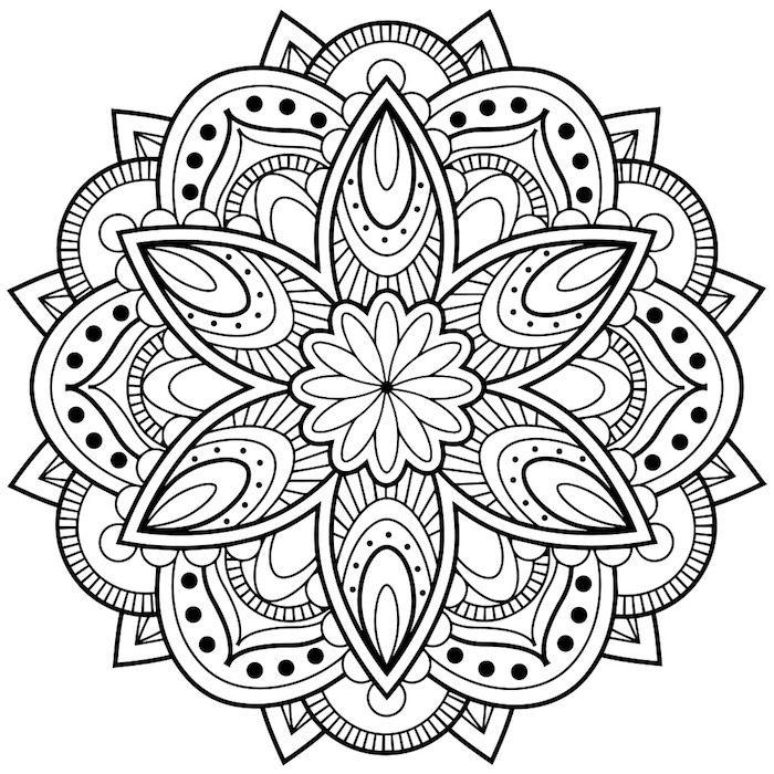 Mandala Blumen Zum Ausmalen Ein Bild Mkt Einer Grossen Mandala Figur Mit Einer Grossen Weissen M Mandala Malvorlagen Mandala Zum Ausdrucken Mandalas Zum Ausmalen