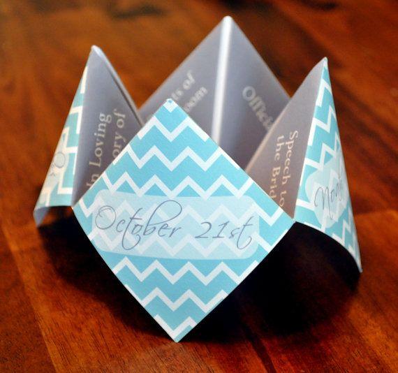 Wedding Program Cootie Catcher Custom By Designsbytenisha On Etsy
