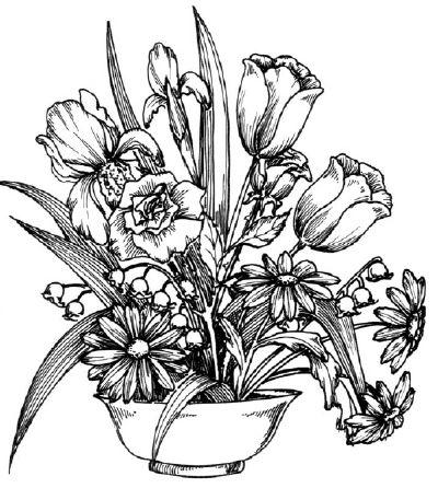 Dessiner Un Bouquet De Fleurs En 2019 Dessin Fleur