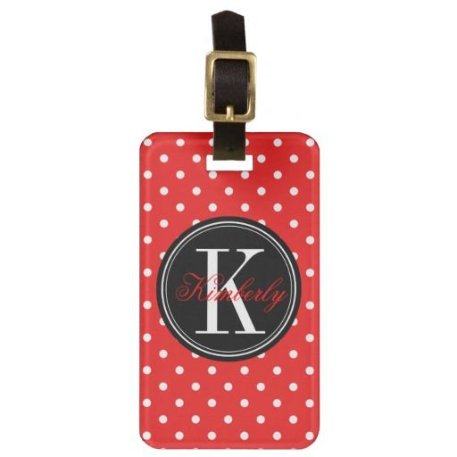 Red Polka Dot with Black Monogram Tags For Luggage In our offer link above you will seeDeals          Red Polka Dot with Black Monogram Tags For Luggage Review on the This website by click the button below...