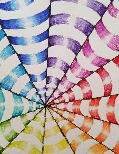 Op Art Colorwheel 7th Grade Lowell Middle School Art Ed Central