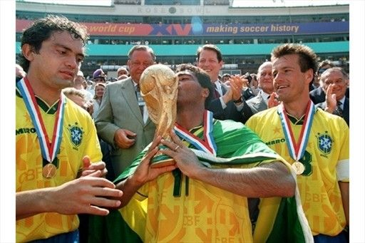 Branco, Romário e Dunga (Brazil) - FIFA World Cup Champion (USA,1994)