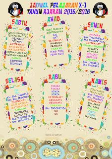 [Download] contoh desain jadwal piket kreatif dan unik