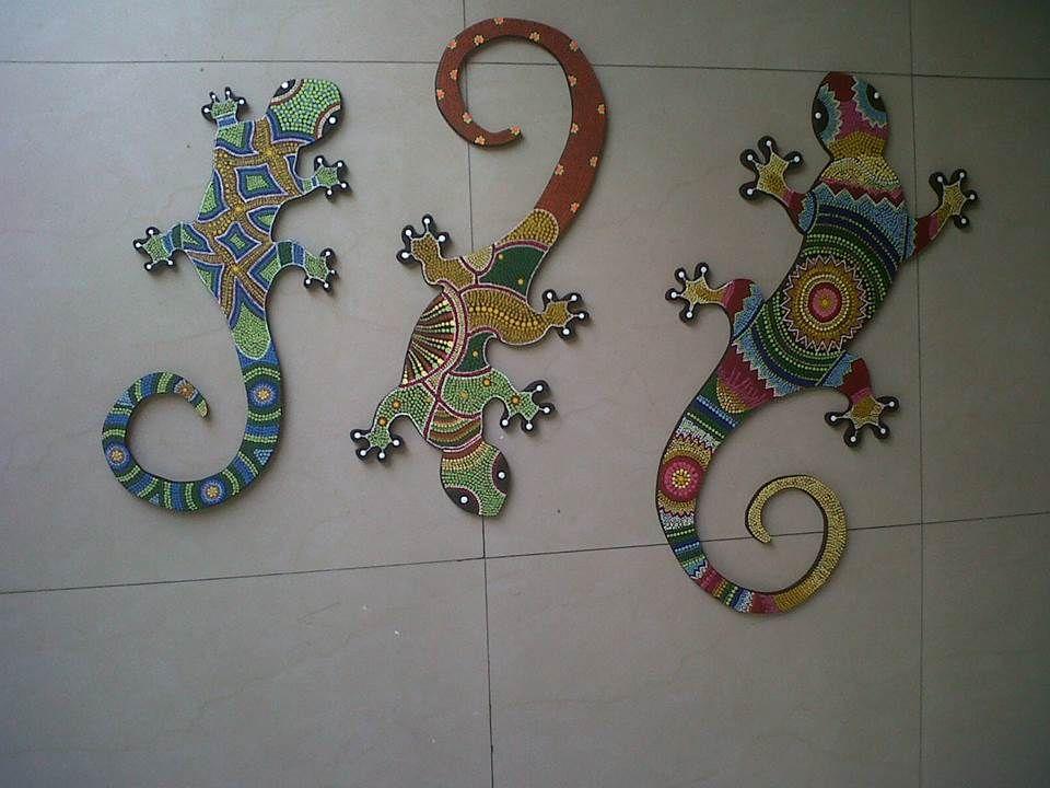 Salamandras En Puntillismo Mosaic Tile Backsplash Mosaic Tiles Mosaic