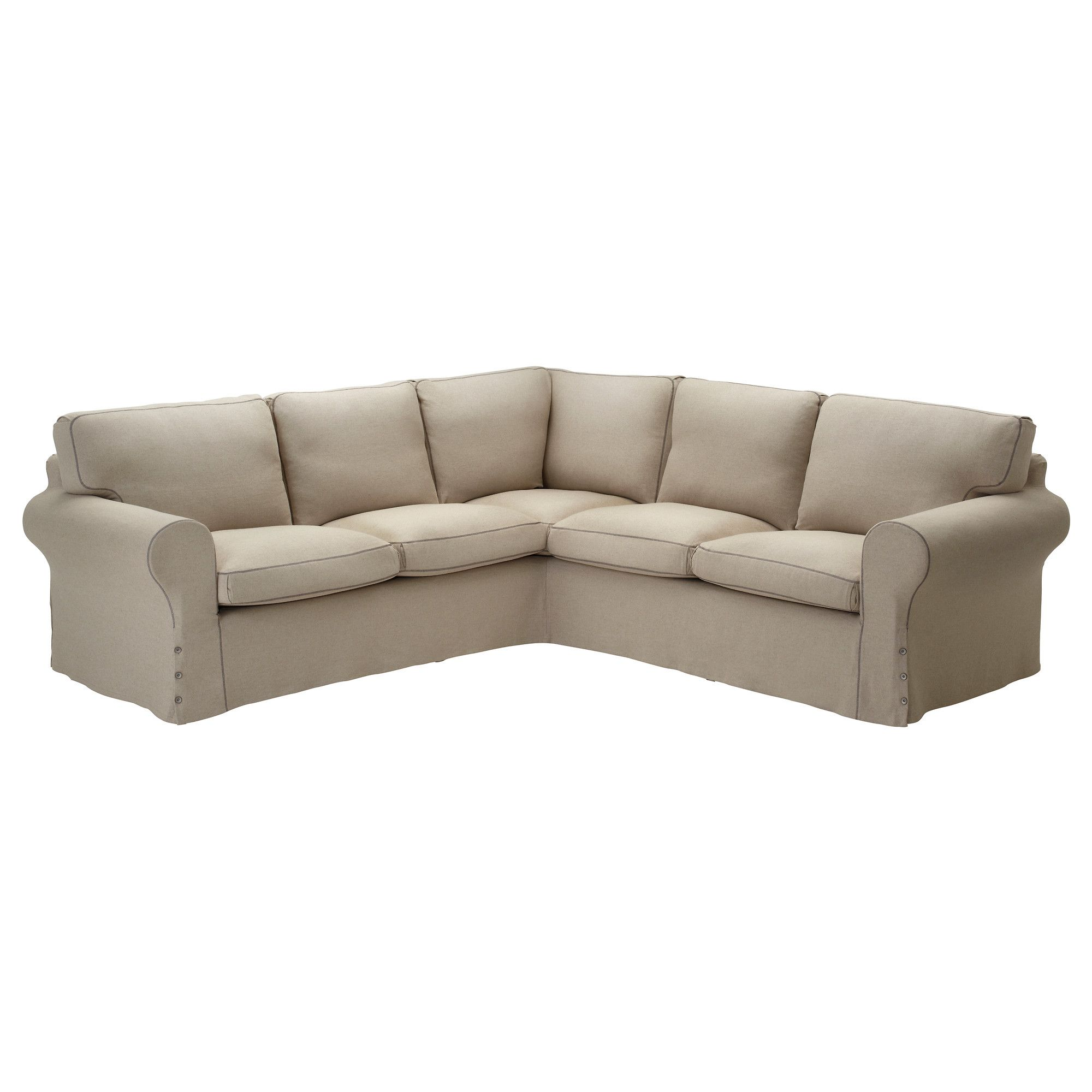 EKTORP Corner sofa 2+2 slipcover in Risane natural - from ...
