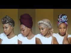 4 Quick & EASY Headwrap/Turban Styles (Short Natural Hair & TWA Friendly) #tieheadscarves