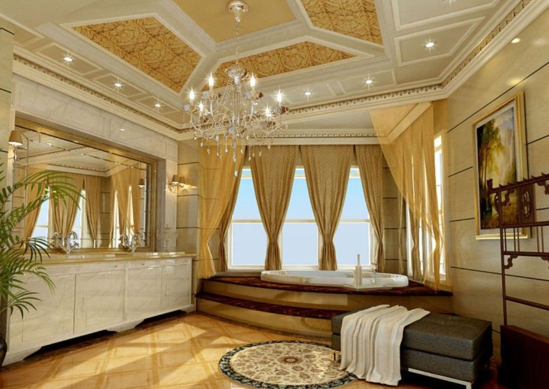 Bathroom ceiling decorations - Neoclassical Decorating Style Villa Neoclassical Style Living Room Ceiling Design Interior Design