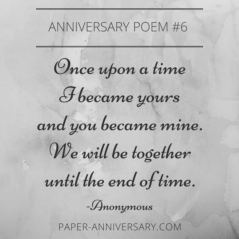 Epic anniversary poems for him