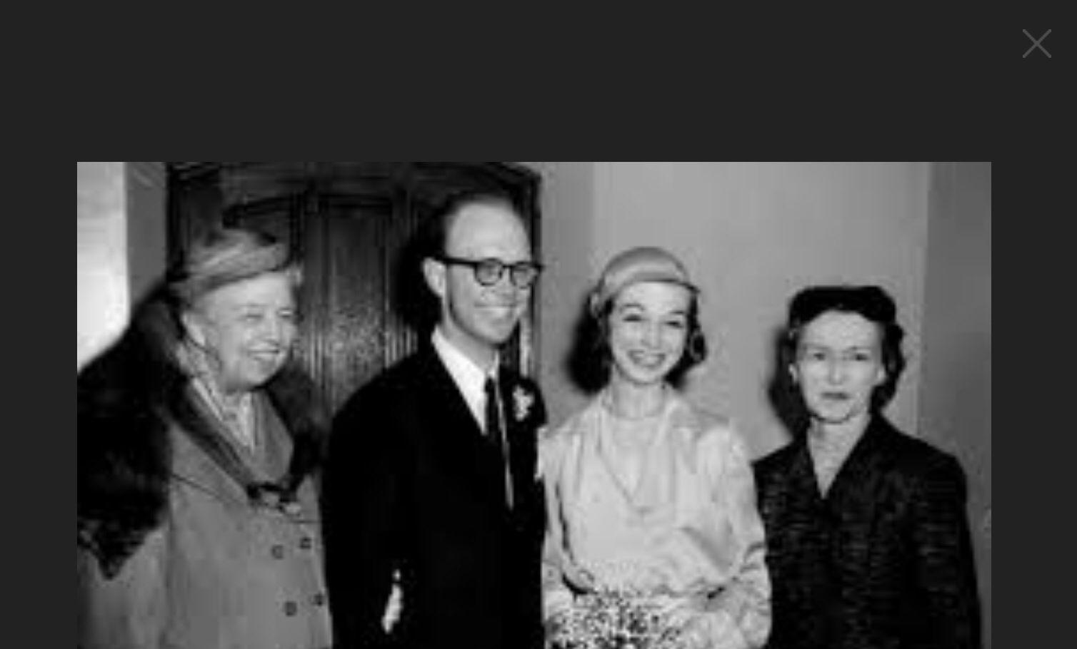 Eleanor Roosevelt At Grandson Curtis Roosevelt Wedding Weddings