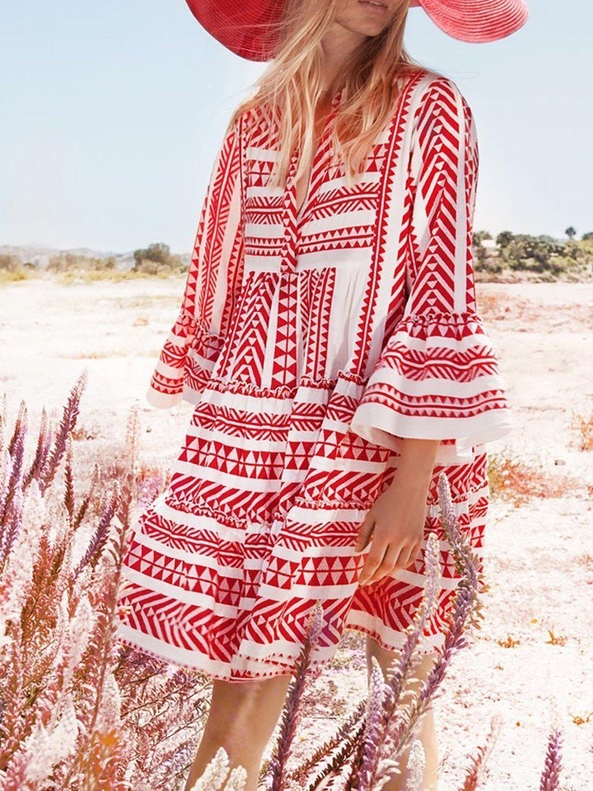 Plus Size Summer Dress for Women Mini Boho Dress Boho Print Dress Tribal Hippie Dress Boho Dress Bohemian Dress Floral Fashion Dress