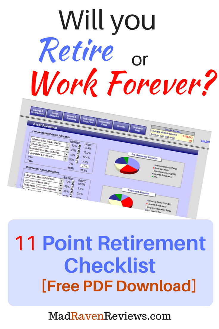 retirement preparation checklist free pdf with calculator