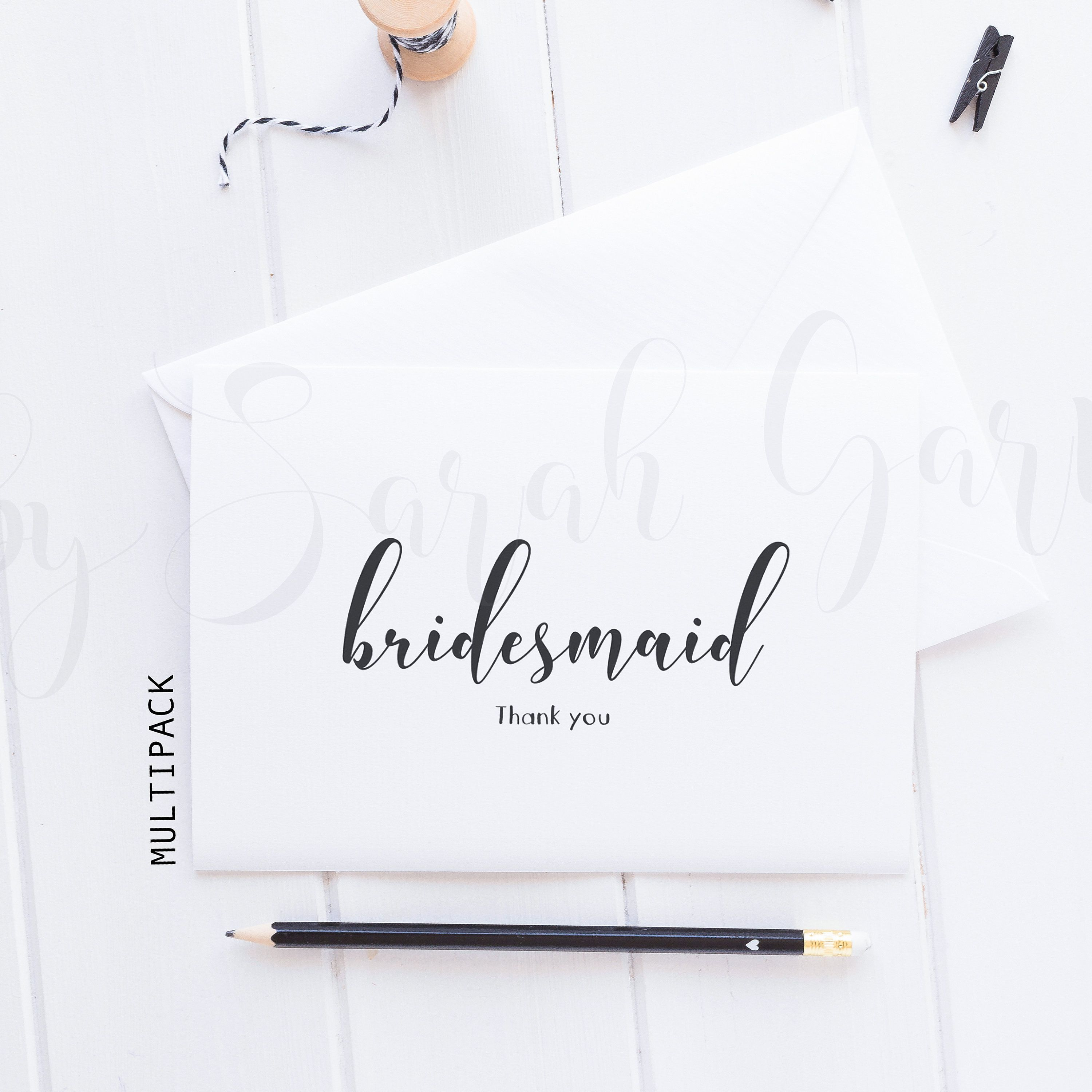 jess multi pack thank you for being my bridesmaid card
