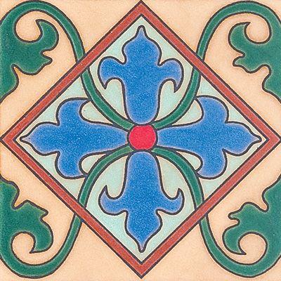 288 Diamond Crest Ceramic Border, 6X6 - fliesen bordre