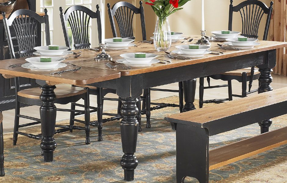 French Country Farm Table | French Country Dining Table | Kate Madison Furniture