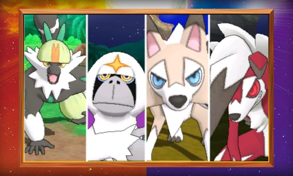 Mostradas criaturas exclusivas de Pokémon Sol y Luna