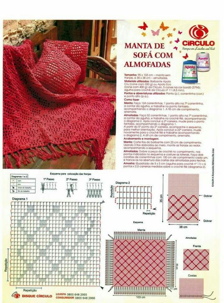 Pin de Haydee Curbelo en patrones para   Pinterest   Croché ...