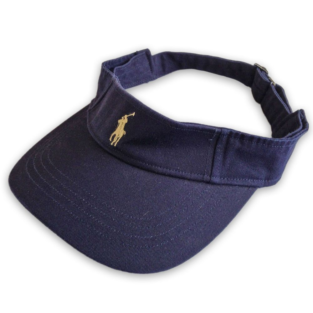 93be96e85fb Polo Ralph Lauren Visor Cap Hat Blue + Yellow Pony. Tennis   Golf Special  Price