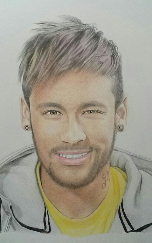 Awesome Neymar Drawing wwwfootballvideopicturecom now thats