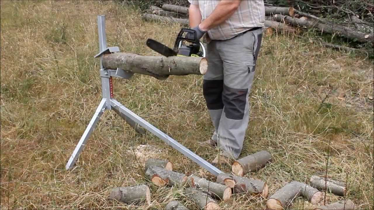 Log holder others 2018 pinterest log holder wood ve tools - Support pour couper du bois ...
