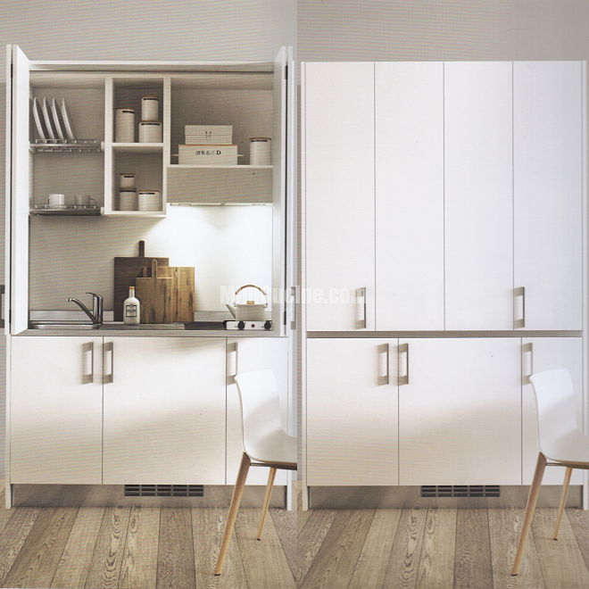 Cucine a scomparsa, Mini Cucine monoblocco | Studio and Kitchens