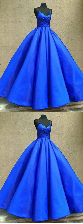 Royal blue prom dresslong prom dressmodest prom dressessimple