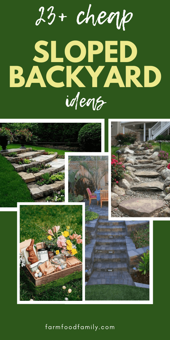 50+ Best Sloped Backyard Landscaping Ideas & Designs On A ... on Small Sloped Backyard Ideas On A Budget id=76879