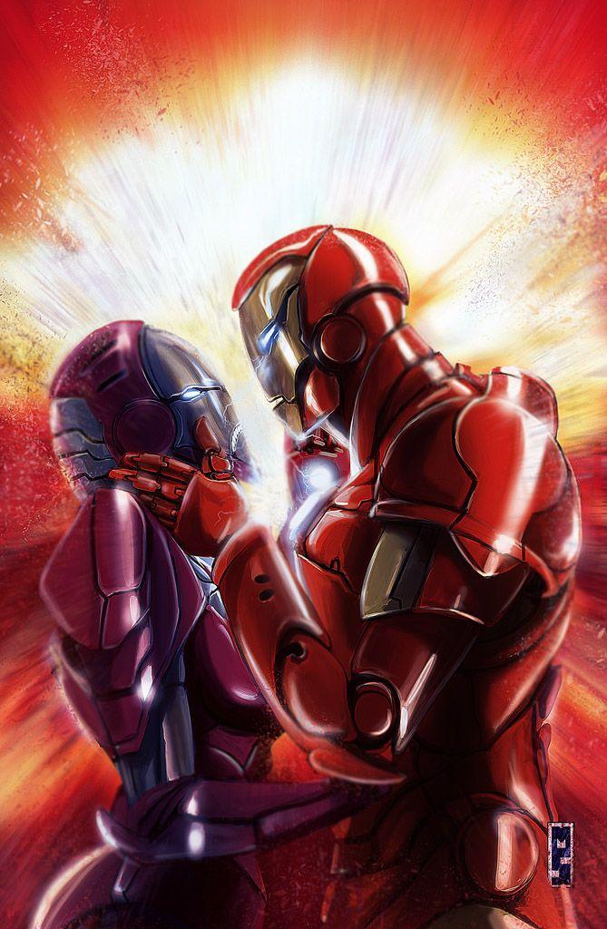 Iron #Man #Fan #Art  (Iron love) By: Matteospirito  (THE * 5
