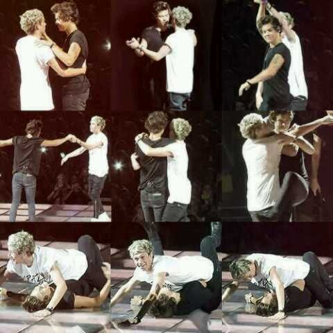 Niall and Harry dancing and failing lol