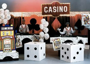Casino Night Party Decorations casino party decoration with large cardboard box dices | casino