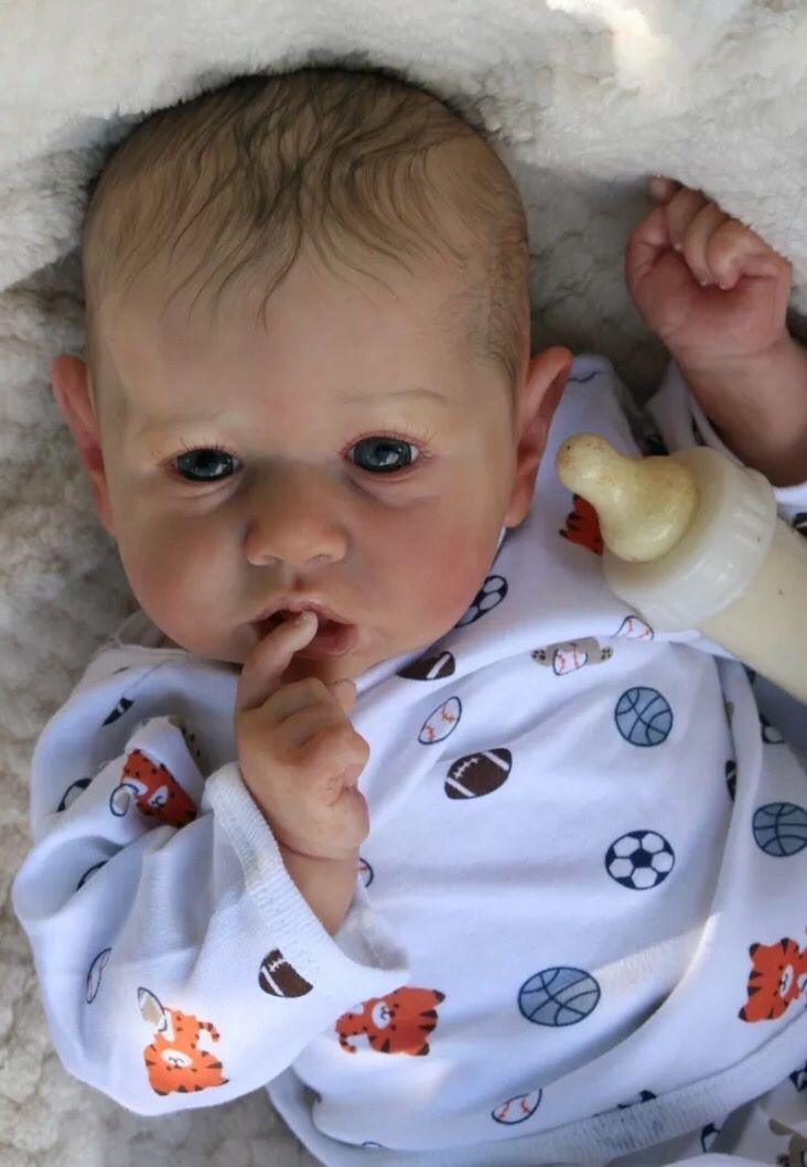 Pin By Terra Jones On Kit Liam Bonnie Bwon Reborn Toddler Dolls Realistic Baby Dolls Reborn Babies