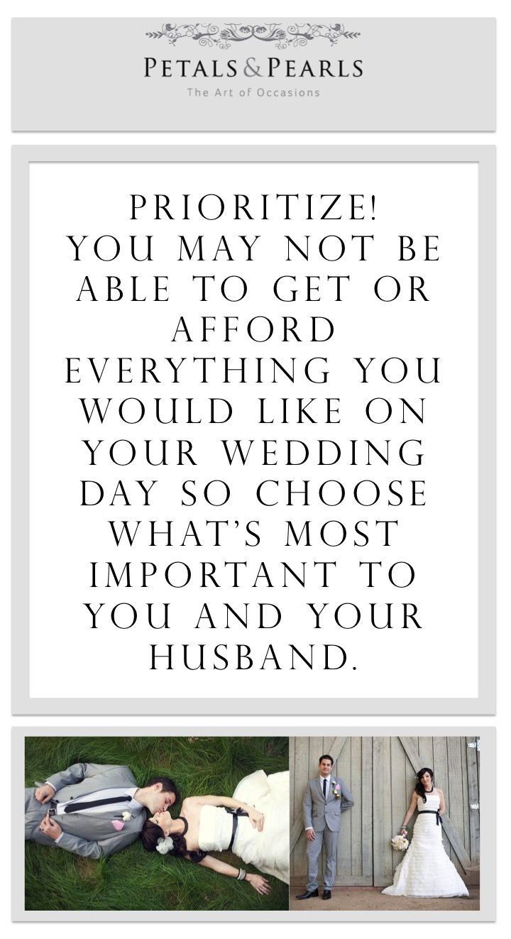 Choose 2 Most Important Things For You And 2 For Your Husband