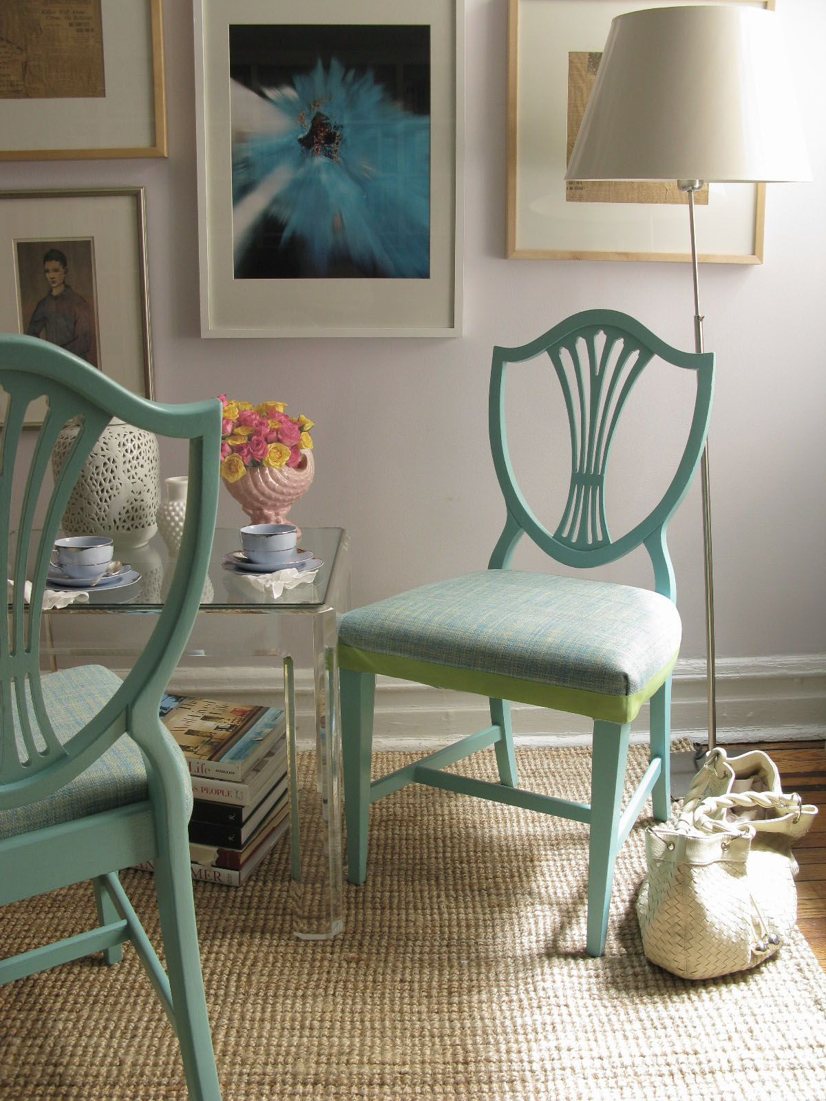 Thrift Store Painted Shield Back Chairs | Eddie Ross
