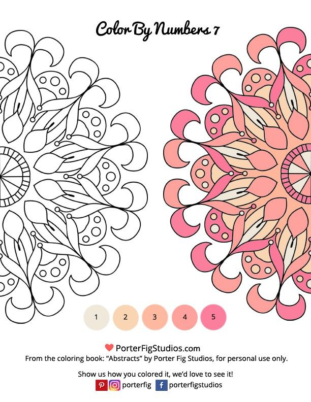 Printable Mandalas Coloring Page For Adults Color By Numbers 7
