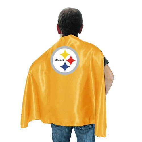 NFL Pittsburgh Steelers Yellow Hero Cape.  Jackson NEEDS this!!