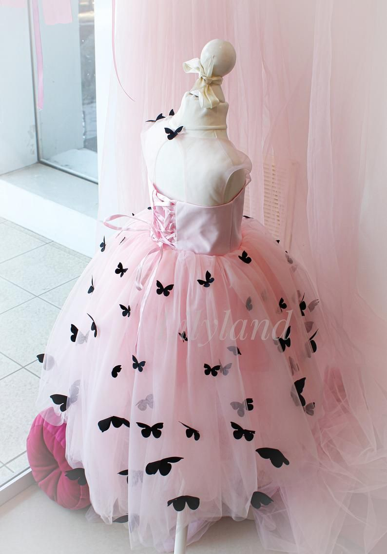 Cute Baby Butterfly Dress Soft Pink Black And Pink Little Etsy Baby Girl Party Dresses Baby Pink Dresses Dresses [ 1135 x 794 Pixel ]