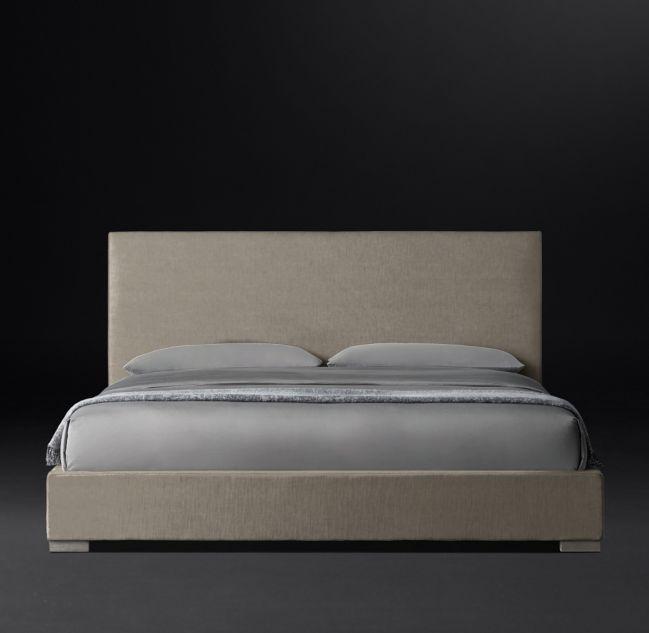 Best Modena Panel Nontufted Fabric Platform Bed Platform Bed 400 x 300