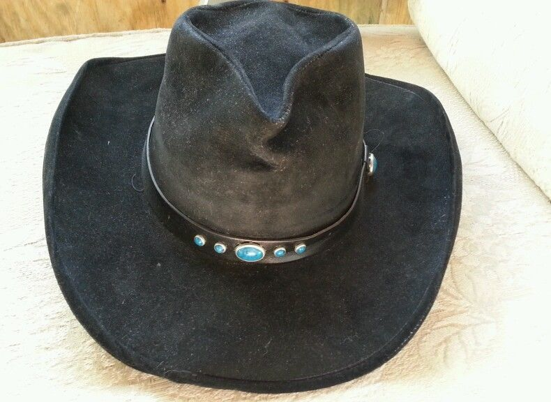 8ae5c0676 BAILEY U-ROLLIT ROGUE WESTERN COWBOY HAT BLACK TURQUOISE LEATHER ...