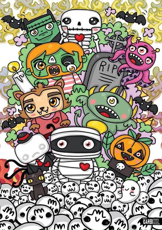 Blanks image by Kent Uchtis Halloween doodle, Doodle