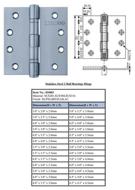 Stainless Steel Hinges Ul Standard Industrial Hinges