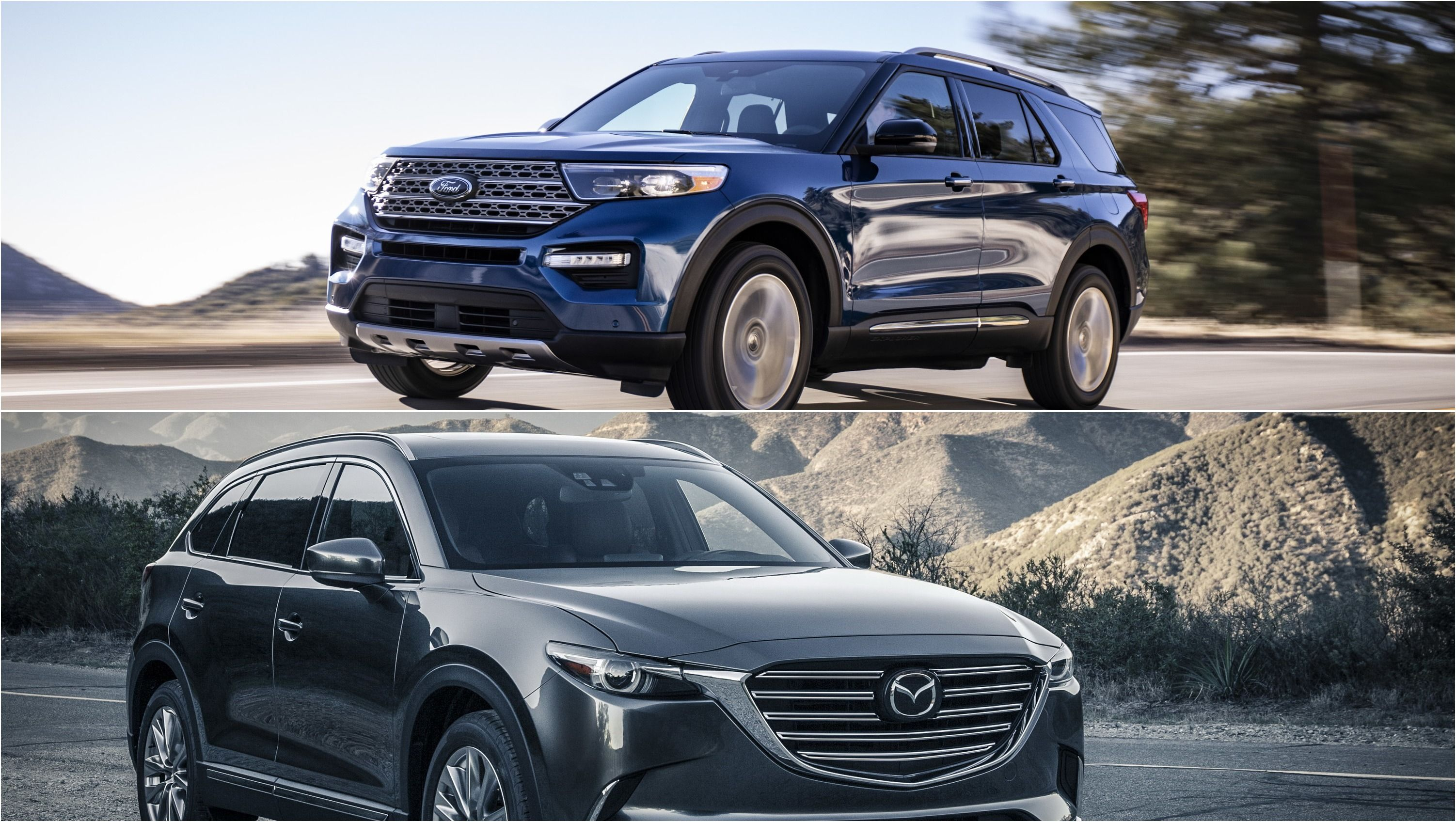 2020 Ford Explorer Vs 2019 Mazda Cx 9 Ford Explorer Mazda Cx 9