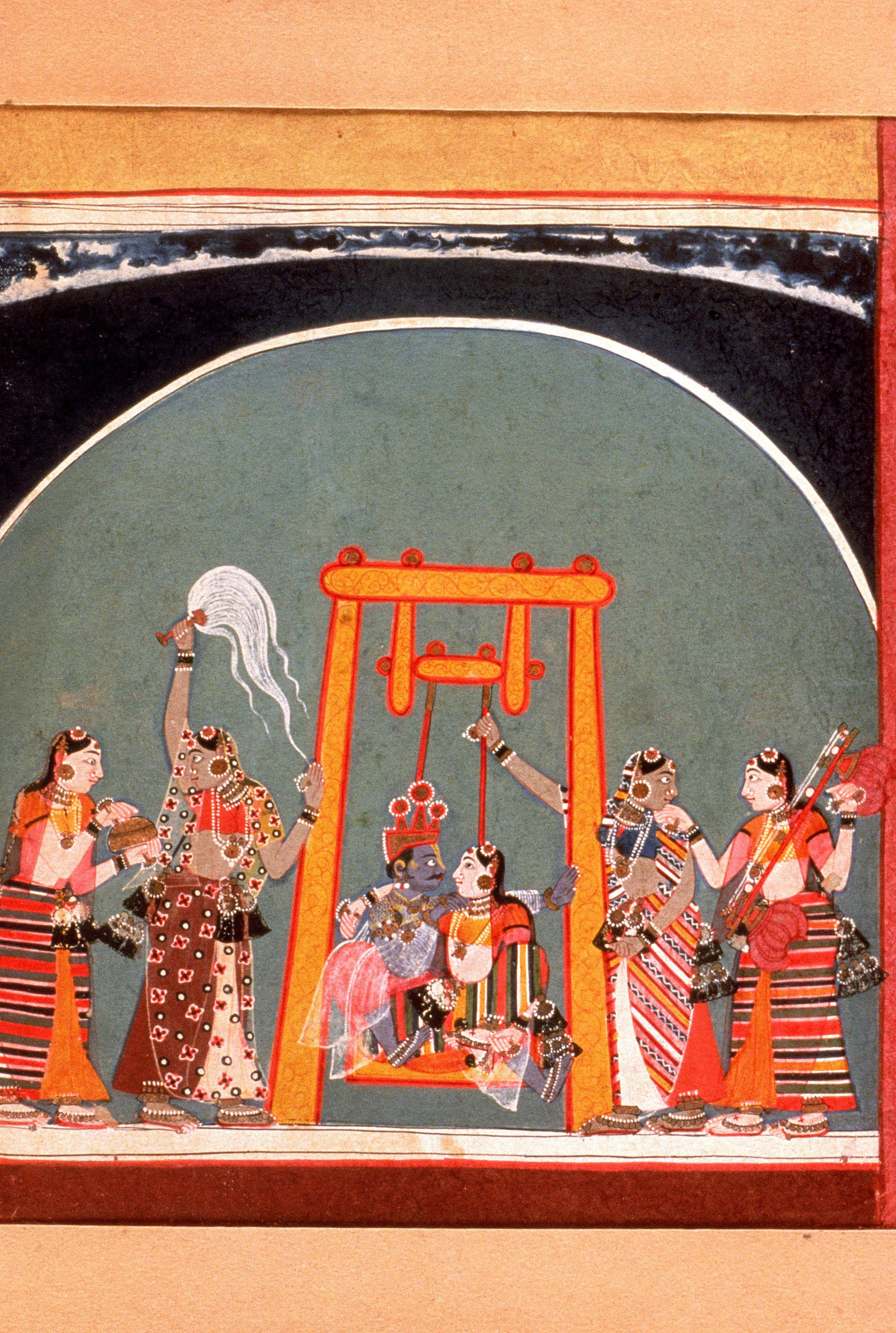 Ragamala Ragini Indian Miniature Painting Rajasthan Rajput