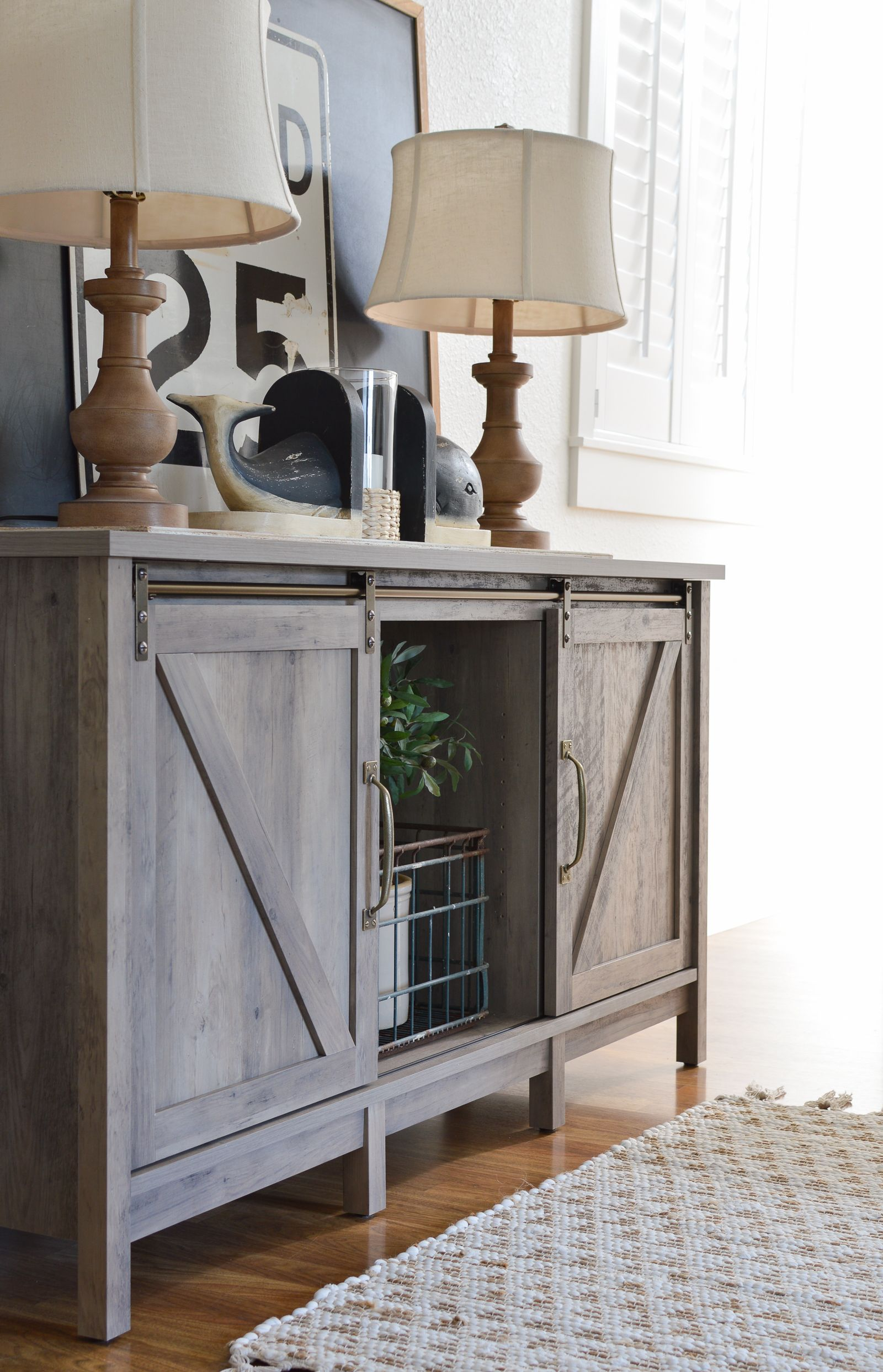 Vintage Console Table Styling