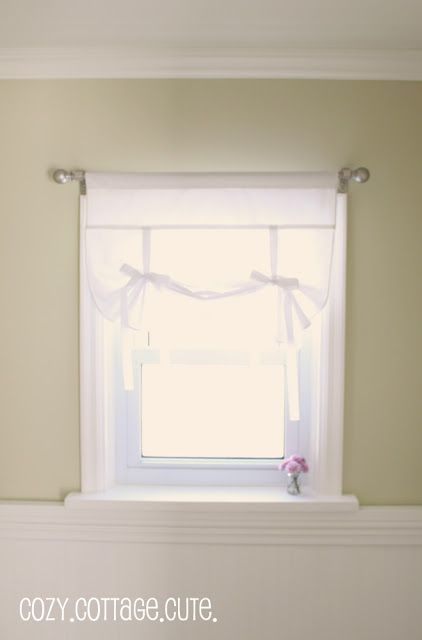 Tutorial Fabric Tie Up Shade Tie Up Shades Tie Up Curtains