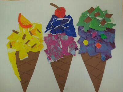 My Masterpiece Art Partner Did This Theibaud Inspired Project With Our Girls Grade Class The Kids LOVED Making Ice Cream Cones
